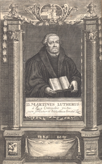 Martin Luther (engraving by Johann Georg Mentzel)