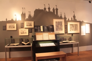 "View of the special exhibition ""Bach Nuremberg Style"", Photo:  Bach Archive Leipzig"